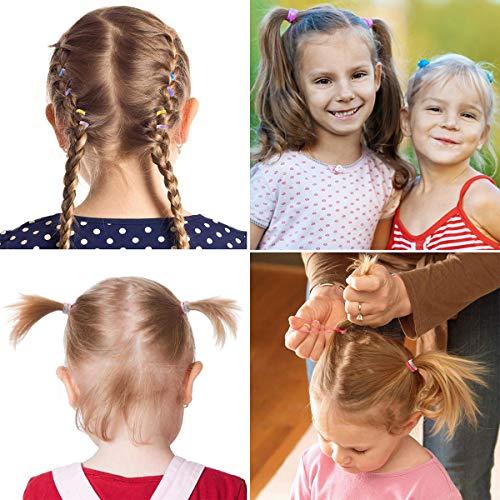 Kids Elastics No Damage Colored Hair Bands Fashion Girls Hair Ties 2000 CountSpring color