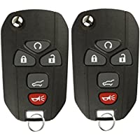 KeylessOption Keyless Entry Flip Key Car Remote Fob Ignition key For 15913415(pack of 2)