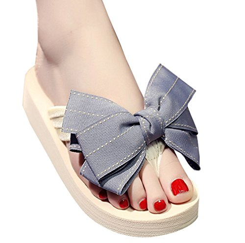 Cattior Womens Cute Outdoor Beach Ladies Slipper Flip Flops Slippers Gray E4oVJ3vrLH