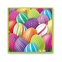 Bright and Colorful Easter Egg Cocktail Beverage Napkins (16 Count)