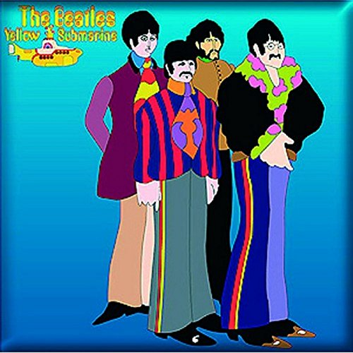 The Beatles Fridge Magnet Yellow Submarine Sea Of Science Official 76Mm X 76Mm Beatles Yellow Submarine Magnet