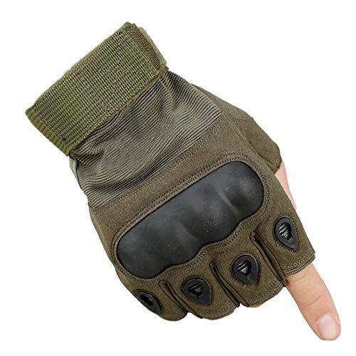 タクティカルフルフィンガー/フィンガーレススポーツグローブ アウトドア キャンプ ハイキング スポーツグローブ フィットネスグローブ 冬用保温手袋 Large Tan Half Finger B07MH54KDX