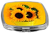 Rikki Knight Compact Mirror, Sunflowers In Vase