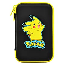 HORI Pikachu Hard Pouch for New Nintendo 3DS XL Officially Licensed by Nintendo and Pokemon