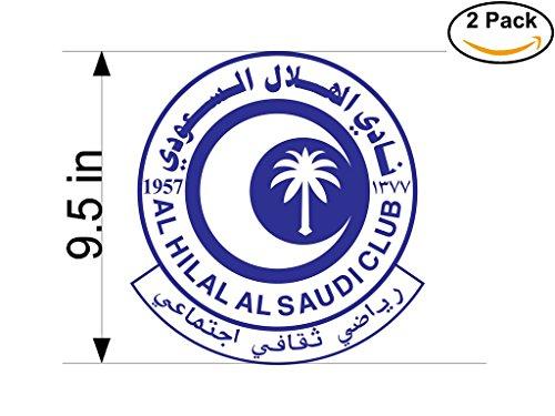 fan products of Al Hilal Saudi Arabia Soccer Football Club FC 2 Stickers Car Bumper Window Sticker Decal Huge 9.5 inches