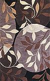 KAS Oriental Rugs Bali Collection Mosaic Area Rug, 3'3'' x 5'3'', Plum/Black