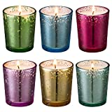 Mercury Glass Votive scented Candle 6 Pack Gift Set (Speckled Gold) - Mercury Glass Votive scented Candle for Weddings, Parties and Home Décor