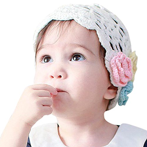 Patriotic Knitting Patterns (Little Girl Baby Knitting Wool Crochet Flowers Hat L)