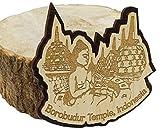 Printtoo Engraved Wooden Borobudur Temple Indonesia