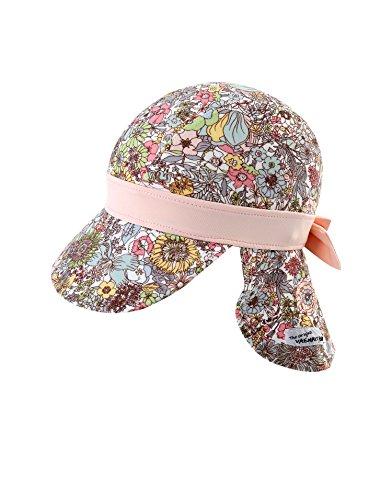 Vaenait baby Girls Sun Protection Sporty Flap Swim hat UV Flap Cap Floral L