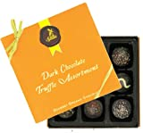 Sjaak's Organic Chocolate - Truffle Assortment Gourmet Organic Dark Chocolate - 9 Piece(s)