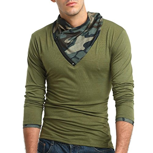 Clearance Sale! Wintialy Men's Autumn Camouflage Long Sleeved Pullover Zipper Sweatshirts Top Blouse