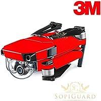 SopiGuard 3M Matte Red Precision Edge-to-Edge Coverage Vinyl Skin Controller Battery Wrap for DJI Mavic Pro