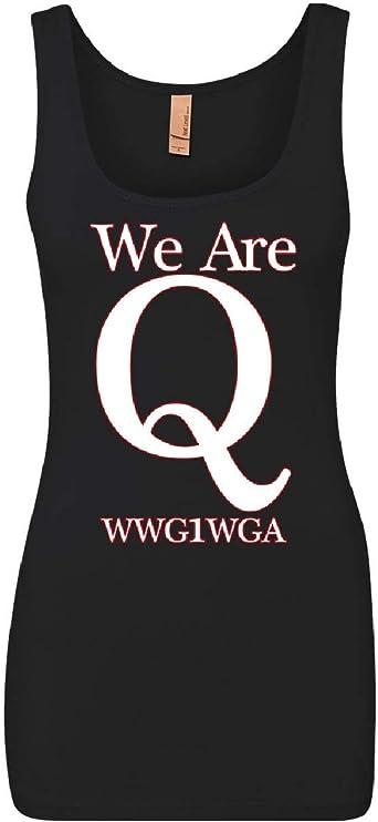 Tee Hunt We are Q WWG1WGA Tank Top Stars and Stripes QANON Great Awakening Sleeveless