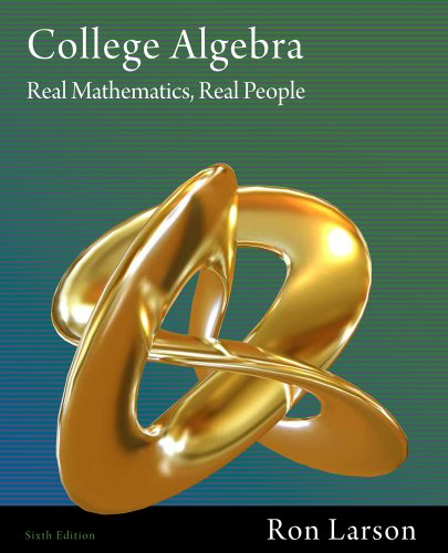 Bundle: College Algebra: Real Mathematics, Real People, 6th + Enhanced WebAssign with eBook LOE Printed Access Card for