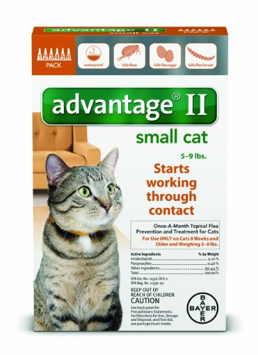 (Advantage II for Small Cats 5-9 lbs by Bayer 12 Month)