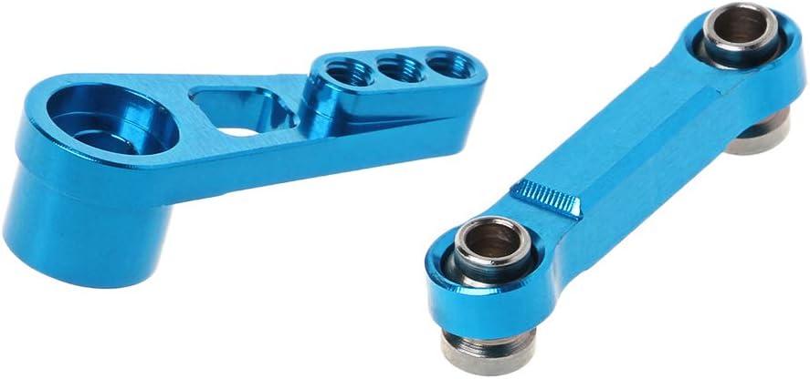 Azul Brazo oscilante servo 25T para WLtoys A949 A959 A969 A979 K929-B Accesorios de actualizaci/ón de Metal para Coche con Control Remoto Barra de tracci/ón del tim/ón KERDEJAR Barra de direcci/ón