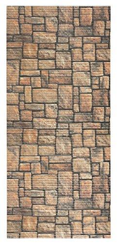 All Design Mats AQ584-01-2x4 Cushioned Non-Slip/Rubber, Backing 3D Stone Print Aqua Runner/Doormat, 26