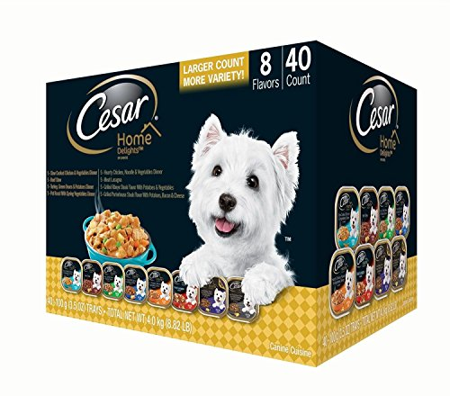 Cesar Home Delights Wet Dog Food, Variety Pack (3.5 Oz., 40 Ct.) (In Stores Sunrise Mall)
