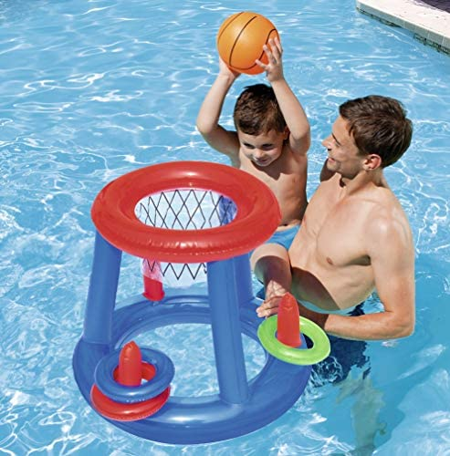 Bestway 52190 - Canasta Hinchable Baloncesto Game Center Ø61 cm ...