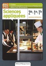 Sciences appliquées 2de/1re/Tle : Bac pro cuisine, nouveau référentiel