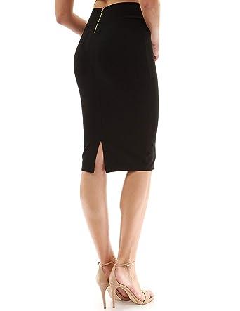 7345795ae0 FAIMILORY Womens Stretch High Waisted Bodycon Office Pencil Skirt (S, Black)