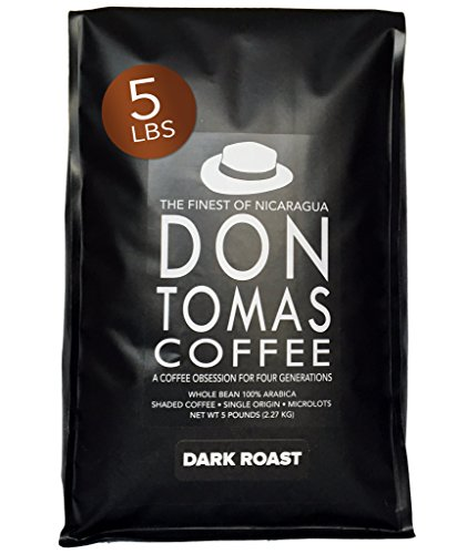 New 2017 Harvest. 5LB Dark Roast Coffee Beans Don Tomas Nicaraguan Coffee - Rainforest Alliance Certified Farm