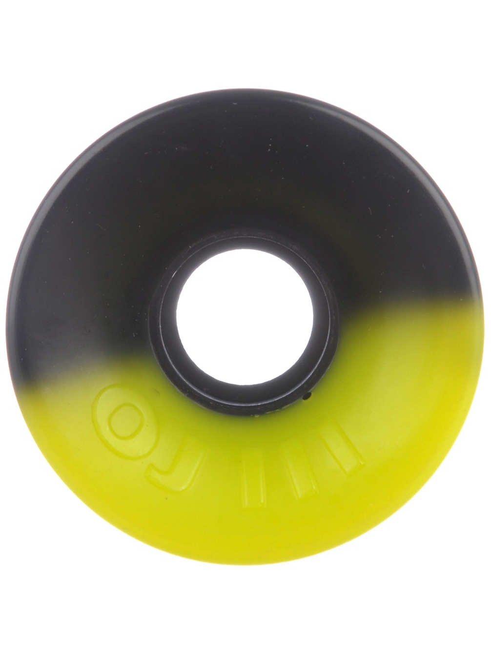 OJ Wheels Hot Juice 5050 78a Skateboard Wheel, 60mm, Yellow/Black by Oj Wheels   B01HQ3UJGI