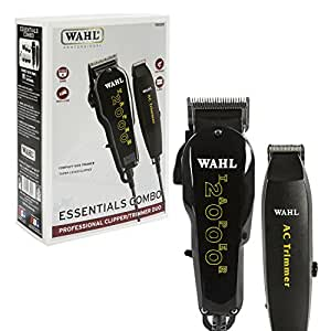 Wahl Professional Essentials Combo #8329 – Features the Taper 2000 Clipper and AC Trimmer – Great for Barbers, Stylists, and Beginning Artists – From Fading and Blending to Edging