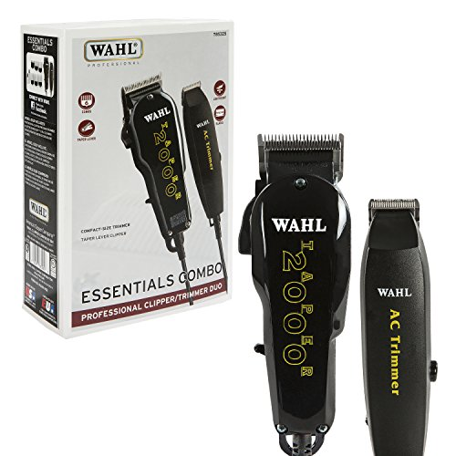Wahl Professional Essentials Combo #8329 – Features the Taper 2000 Clipper and AC Trimmer – Great for Barbers, Stylists, and Beginning Artists – From Fading and Blending to (Wahl Clippers And Trimmers)