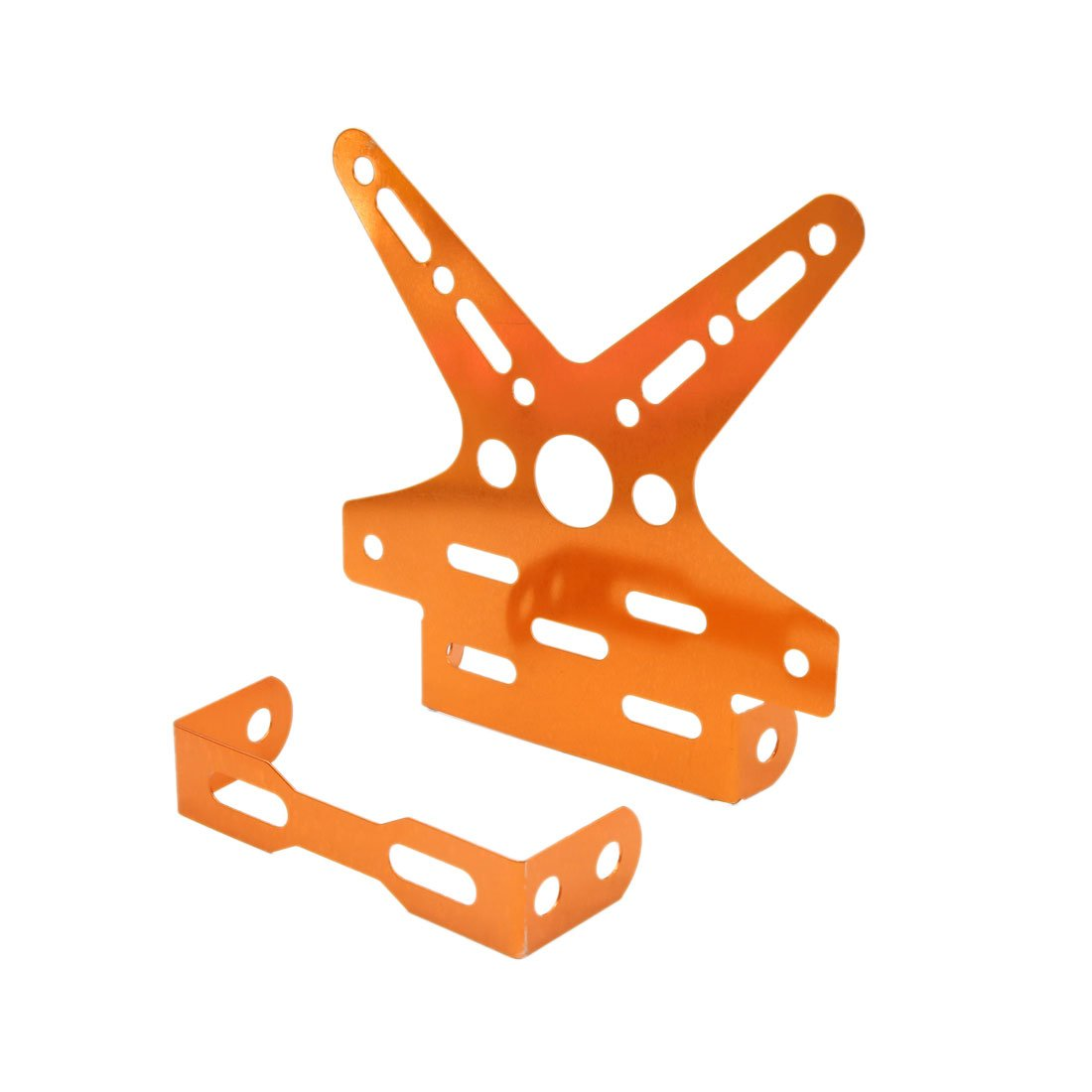 uxcell Universal Orange Swallow Tail Style License Plate Bracket Frame for Motorcycle by uxcell