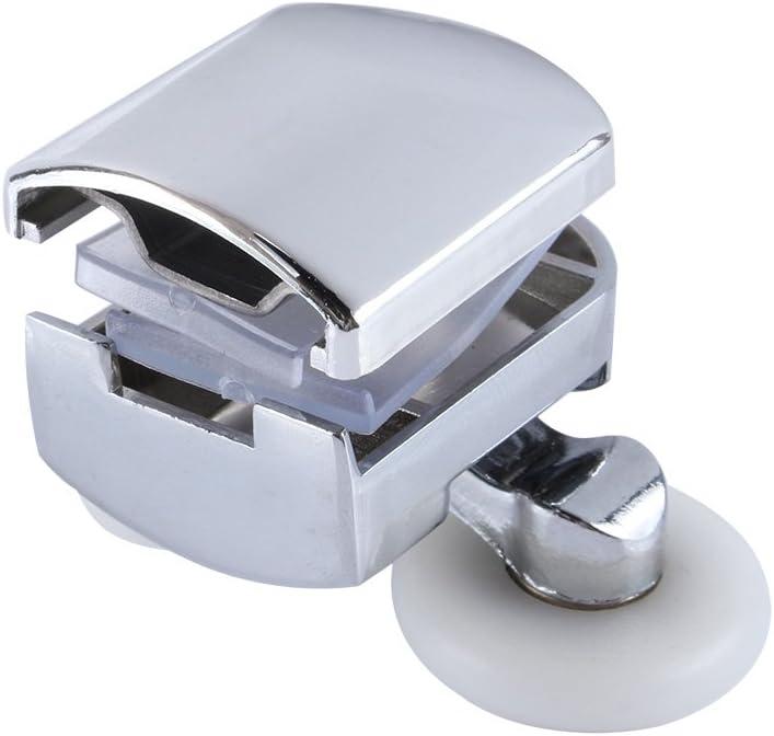 Yosoo 2PCS Sliding Shower Doors 23mm Wheel Twin Double Bottom Zinc Alloy Shower Door Rollers//Runners//Wheels
