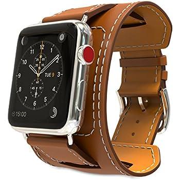 Amazon.com: Solo Pelle Apple Watch Series 1/2/3 Watch 2 in 1 ...