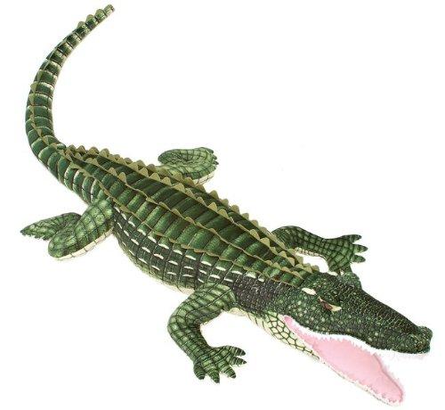 "72"" Lifesize Alligator Green Gator Plush Stuffed Animal T..."
