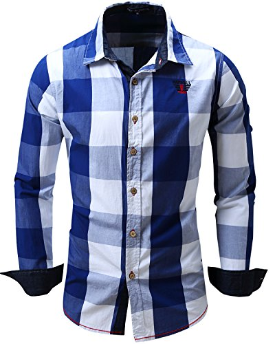 Plaid Button Down Shirt - 1