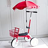 QXMEI Children's Tricycle Bicycle 1-3 Years Old Baby Stroller Baby Bicycle Light Child Car,Red3