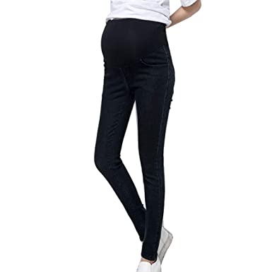 14bf22d97a694 mama stadt Jeans Pregnant Women,Vintage Skinny Maternity Trousers,Over The  Bump Stretchy Cotton Pants Leggings,Pregnancy Denims: Amazon.co.uk: Clothing