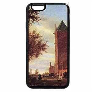 iPhone 6S / iPhone 6 Case (Black) Salomon van Ruysdael - Tower at the Road