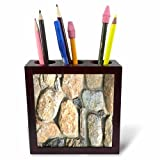 3dRose TDSwhite – Miscellaneous Photography - Stone Wall Fireplace Masonry - 5 inch Tile Pen Holder (ph_285258_1)