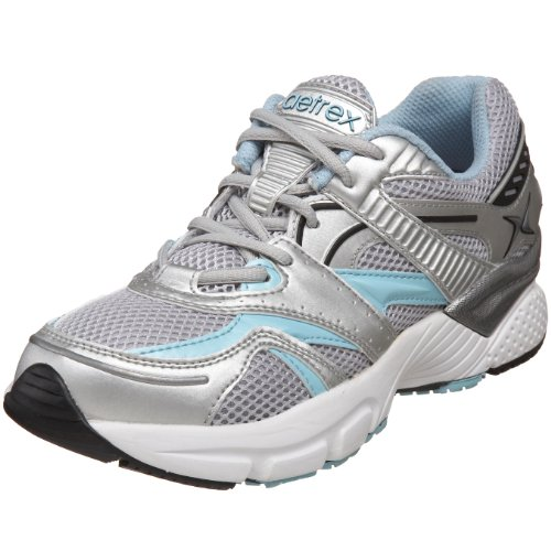 (Apex Women's Boss Runner Sneaker, Silver/sea Blue, 9.5 Wide)