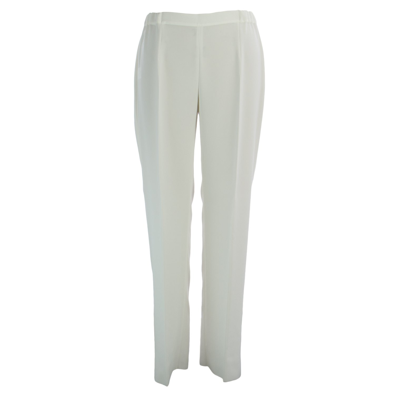 Marina Rinaldi Women's Romana Classical Dress Pants 16W / 25 White by Marina Rinaldi by Max Mara (Image #1)
