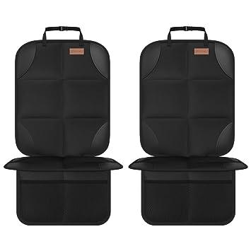 Smart Elf Kindersitzunterlage 2 Stück Sitzschoner Auto Kindersitz Isofix Geeignet Mit Dickster Polsterung Und Rutschfesten Netztaschen Für Baby Und Haustier Baby