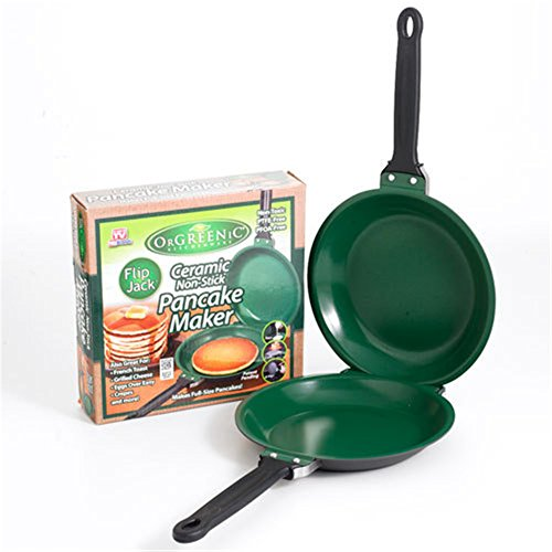 EDTara 7inch Non-Stick Flip Pancake Copper Pan Flip Cookware Pancake Maker Double Pan