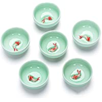 fghf Chinese Tea Cups Porcelain Celadon Fish Teacup