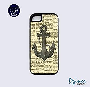 iPhone 5 5s Tough Case -Newspaper Anchor Pattern iPhone Cover