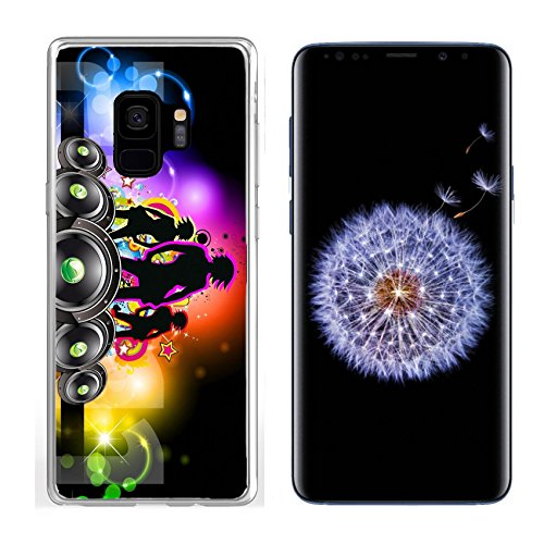 Liili Premium Clear Case for Samsung Galaxy S9 Soft TPU Rubber Silicone Bumper Snap Case Girls Discoteque Event Flyer for Music Themed Flyers Image ID 8824968 ()