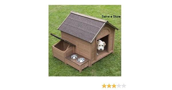 Sylvan comodidad FSC grandes Caseta de perro cachorro perro casa casa Pet, a lovely Caseta de perro con gesto Tejado Que Abre, separadas, zona.