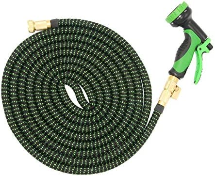 10 Modes Magic Water Pipe Household Garden Telescopic Hose Car Wash Pump Watering Black and Green Garden Water Hose Water Pipe Cleaning Tool (Size : 2250cm)