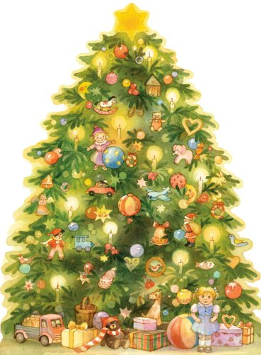 A Christmas Tree Advent Calendar