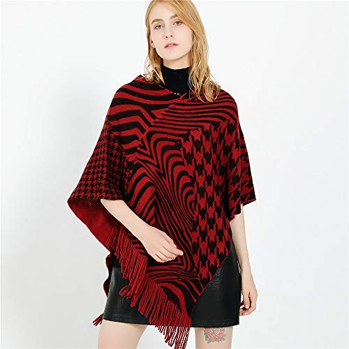 Poncho Rouge Acvip Femme Violacé Cape HYqYOdw4